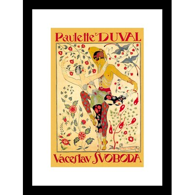 Buyenlarge Paulette Duval and Vaceslv Svoboda Dance Framed and Matted Print