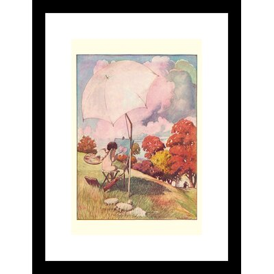 Buyenlarge Cupid Painting Framed and Matted Print