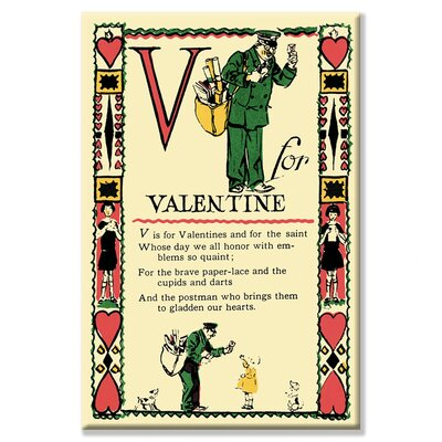 Buyenlarge V for Valentine Canvas Wall Art