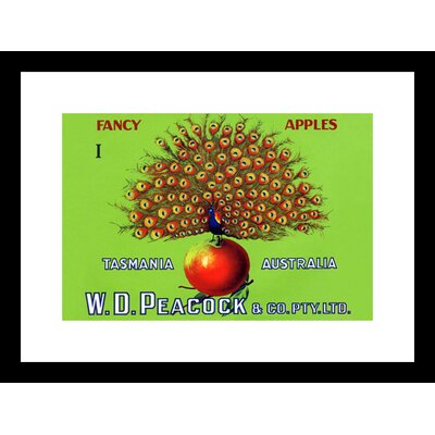 W.D. Peacock Fancy Apples Framed Vintage Advertisement