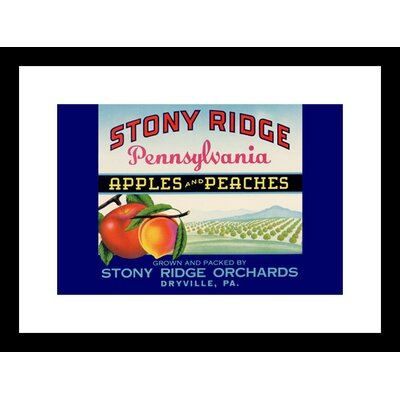 Stony Ridge Pennsylvania Apples and Peaches Framed Vintage Advertisement