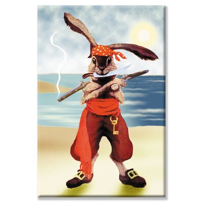 Rabbit Pirate Canvas Wall Art