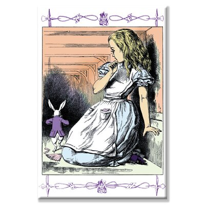 Alice in Wonderland Alice Watches the White Rabbit Canvas Wall Art