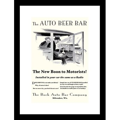 The Auto Beer Bar Framed Vintage Advertisement