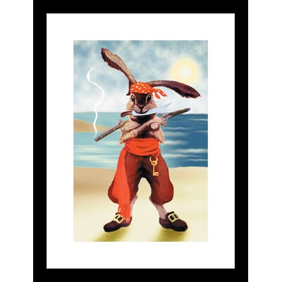 Rabbit Pirate Framed and Matted Print