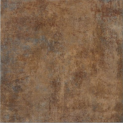 "Marca Corona Reactions 18"" x 18"" Glazed Porcelain Field Tile in Brown"