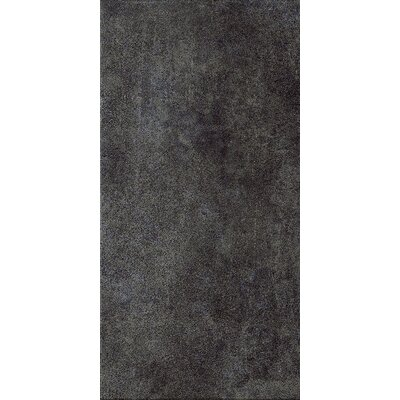 "Marca Corona Reactions 12"" x 24"" Glazed Porcelain Field Tile in Black"