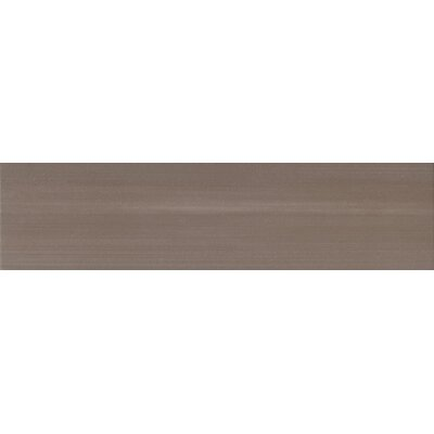 "Marca Corona Eclipse 24"" x 6"" Glazed Porcelain Field Tile in Smoke"