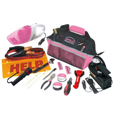 Apollo Tools 54 Piece Roadside Tool Kit with Vacuum and Compressor