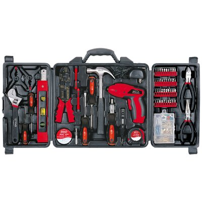 161 Piece Household Tool Kit with 4.8 Volt Screwdriver