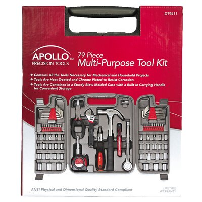Apollo Tools 79 Piece Multi Purpose Tool Kit
