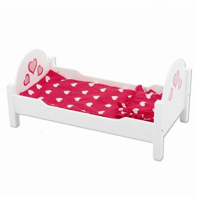 The New York Doll Collection Wooden Doll Single Bed
