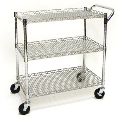 "Seville Classics Shelf UltraZinc Commercial 33.5"" Utility Cart"