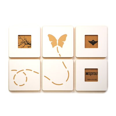 Sprout Butterfly Flying 3 Tile Graphic Art Set
