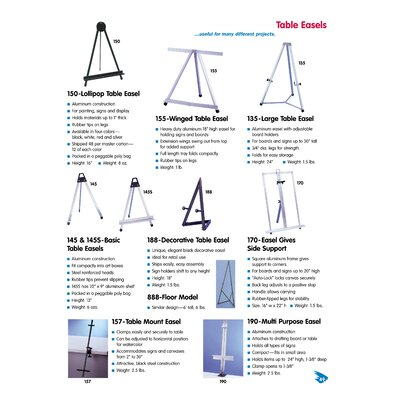 Testrite Table Mount Easel