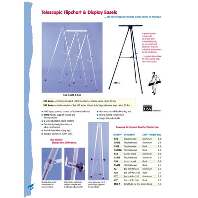Testrite Jumbo Telescopic Display Easel