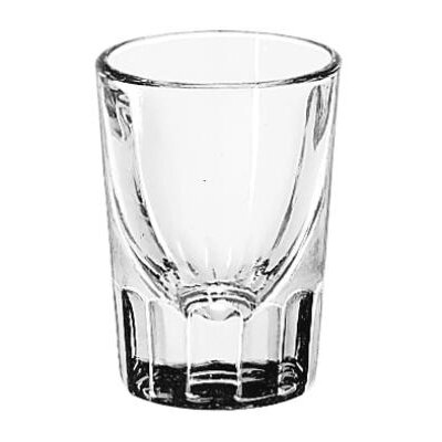 Libbey Whiskey Service Drinking Glasses Fluted Lined Shot Glass, 1-1/2-Ounce