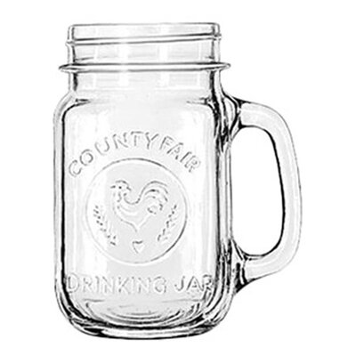 Libbey Mugs and Tankards 16.5 oz. Emblem Drink Jar (Set of 12)