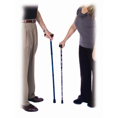 Essential Medical Spring Garden Folding Cane