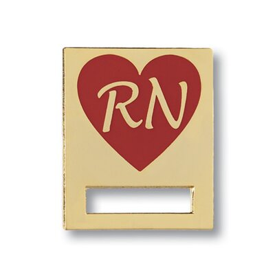 Registered Nurse Heart Cloisonne Badge Tac