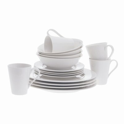 White Basics Cosmopolitan 16 Piece Dinnerware Set
