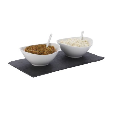 Maxwell & Williams White Basics Slate 5-Piece Rectangular Dipping Set