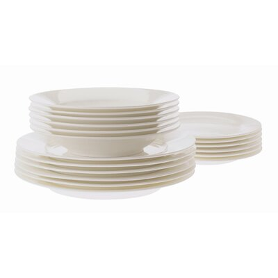 Cashmere European Rim 18 Piece Dinnerware Set