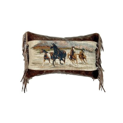 Accessory Pillows Run Wild Fabric Fargo Leather Pillow