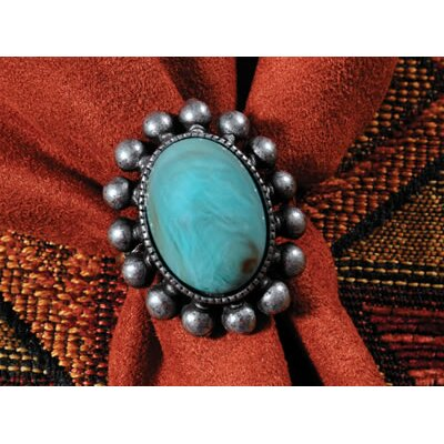 Wooded River Table Top Turquoise Jewel Napkin Ring (Set of 4)