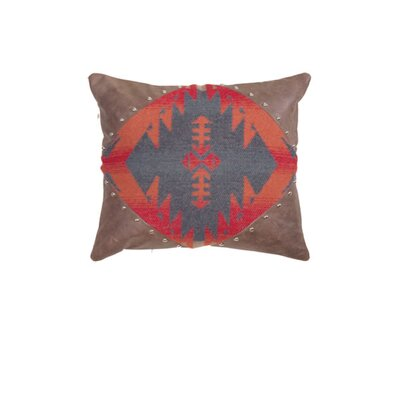 Socorro Alligator Faux Leather Pillow