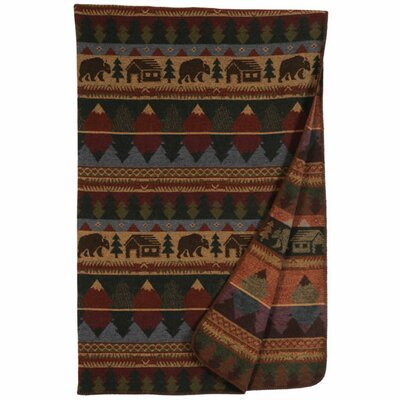 Wooded River Cabin Bear Throw