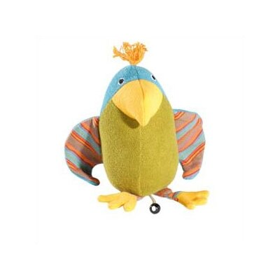 Challenge & Fun Lana Parrot Organic Stuffed Animal with Music Box
