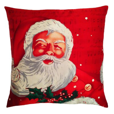Filos Design Holiday Elegance Santa Clause Silk Pillow