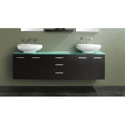 "James Martin Furniture 72"" Berdine Double Bathroom Vanity Set"