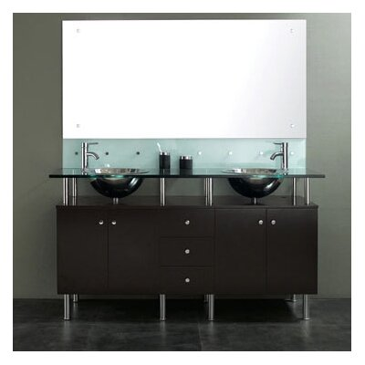 "James Martin Furniture 63"" Double Sink Vanity Set"