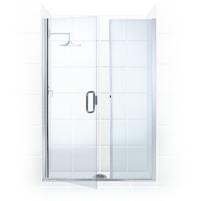 Coastal Shower Doors Illusion Frameless Shower Door and Inline Panel