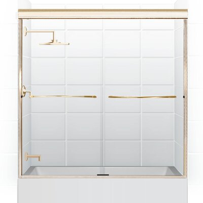 Coastal Shower Doors Paragon Frameless Sliding Tub Door 3/8""