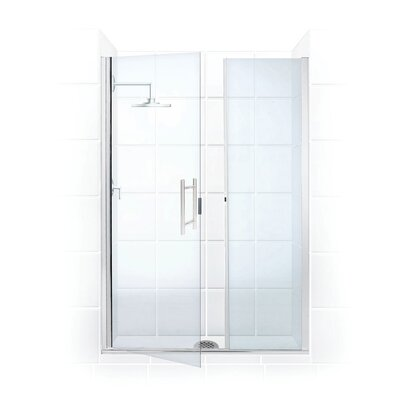 Coastal Shower Doors Illusion Frameless Shower Door and Inline Panel