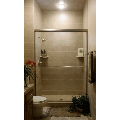 "Coastal Industries 1/4"" Frameless Paragon Bypass Tub Enclosure"
