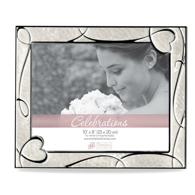 Enameled Heart Scroll Picture Frame
