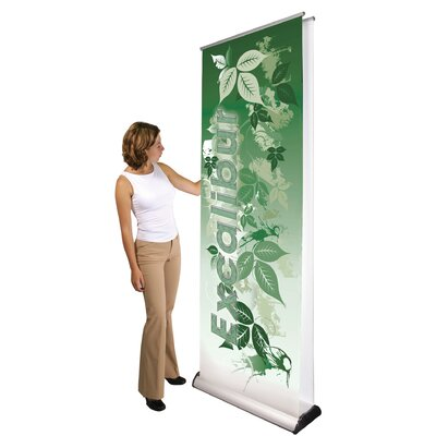 Orbus Inc. Double Sided Premium Excalibur Banner Stand