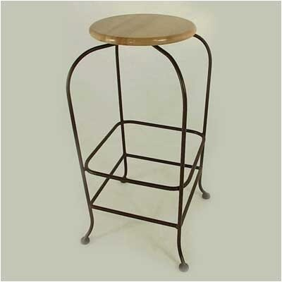 "Grace Collection 24"" Backless Wood Swivel Barstool"