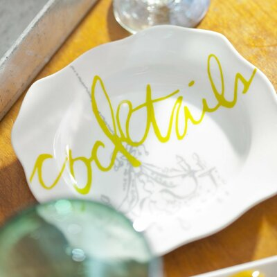 Cocktails Appetizer Plates (Set of 4)