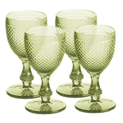 Rosanna Pressed Glass Goblet (Set of 4)
