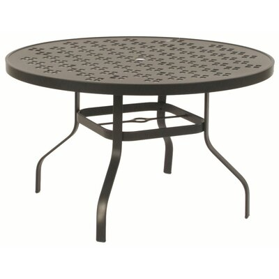 Suncoast Patterned Round Bar Height Table with Hole