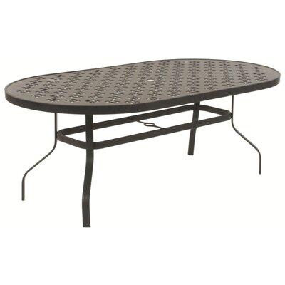 Patterned Oval Dining Table with Hole