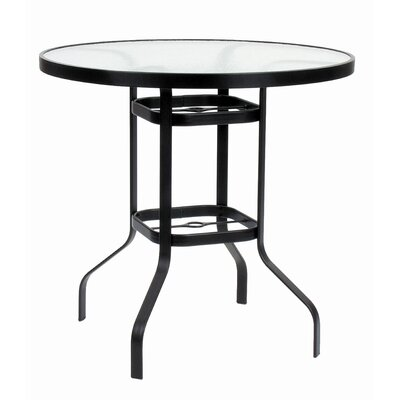 KD Round Glass Bar Height Table with Hole