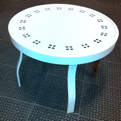 Patterned Round Side Table