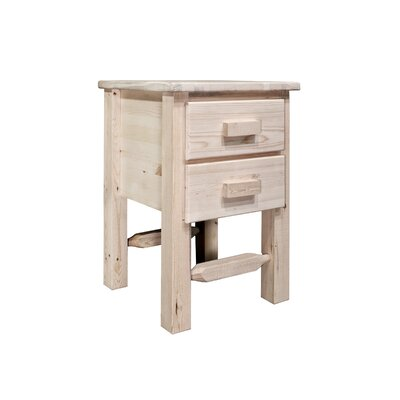 Montana Woodworks® Homestead 2 Drawer Nightstand