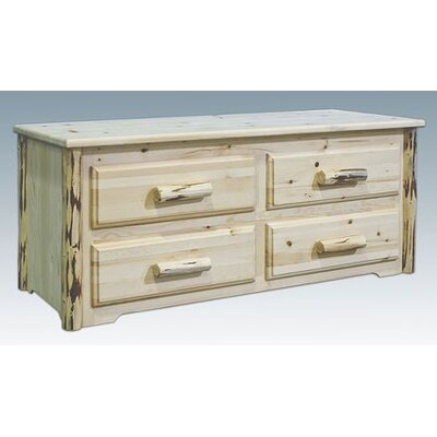Montana Woodworks® Montana Sitting Chest, 4 Drawer